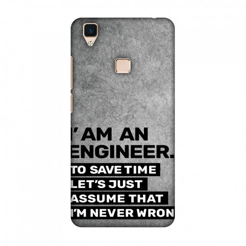 Proud To Be A Engineer 3 Slim Hard Shell Case For Vivo V3