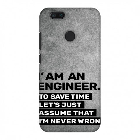 Proud To Be A Engineer 3 Slim Hard Shell Case For Xiaomi MI A1-5X