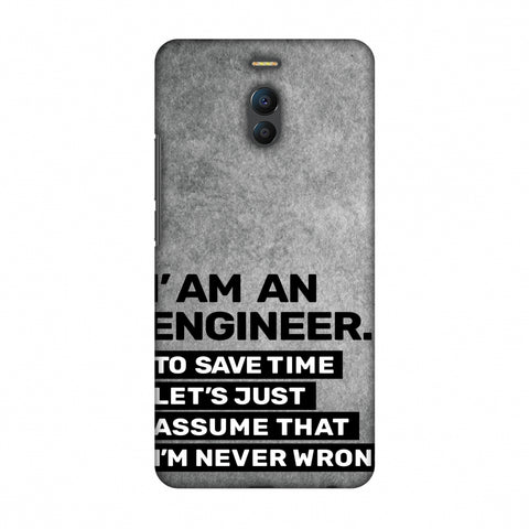 Proud To Be A Engineer 3 Slim Hard Shell Case For Meizu Note 6