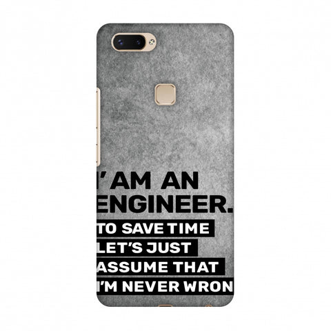 Proud To Be A Engineer 3 Slim Hard Shell Case For Vivo X20 Plus