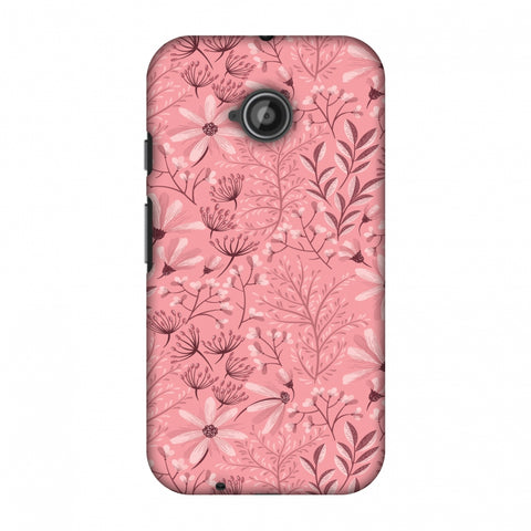 Pretty Flowers 3 Slim Hard Shell Case For Motorola Moto E 2nd Gen