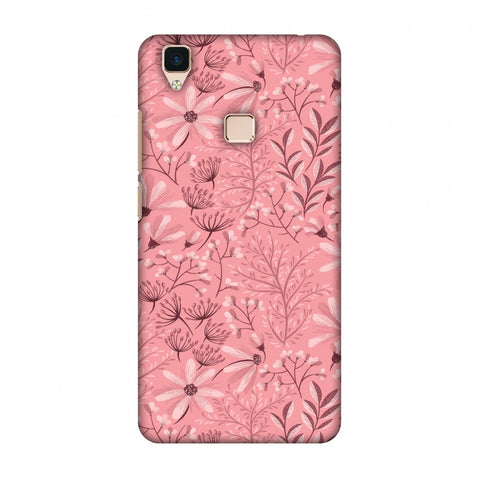 Pretty Flowers 3 Slim Hard Shell Case For Vivo V3