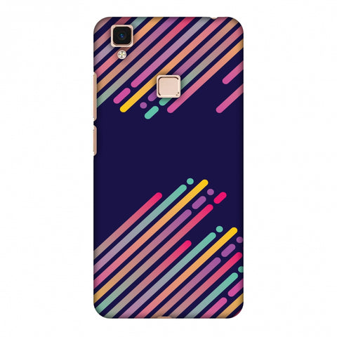 Stripes 2 Slim Hard Shell Case For Vivo V3 Max