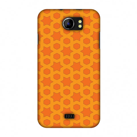 Geometric Flowers 1 Slim Hard Shell Case For Micromax Canvas 2 A110