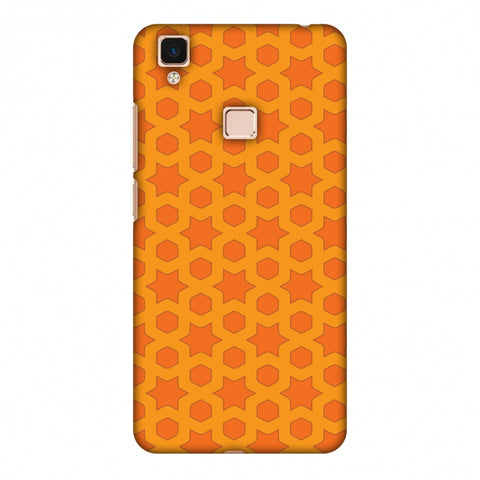 Geometric Flowers 1 Slim Hard Shell Case For Vivo V3 Max