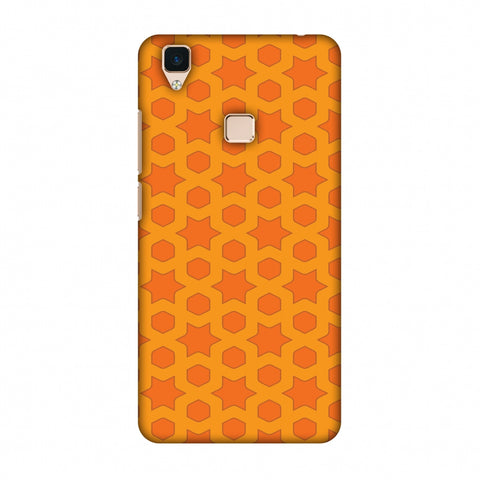 Geometric Flowers 1 Slim Hard Shell Case For Vivo V3