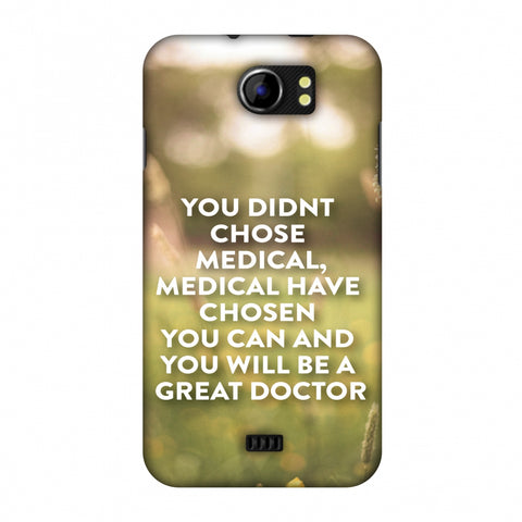 Doctors Quote 2 Slim Hard Shell Case For Micromax Canvas 2 A110