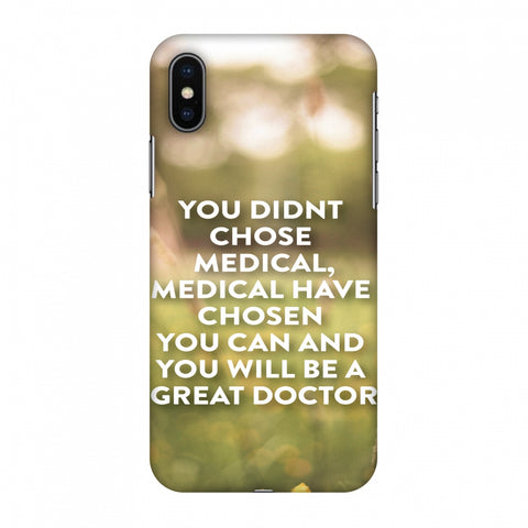 Doctors Quote 2 Slim Hard Shell Case For Apple iPhone X