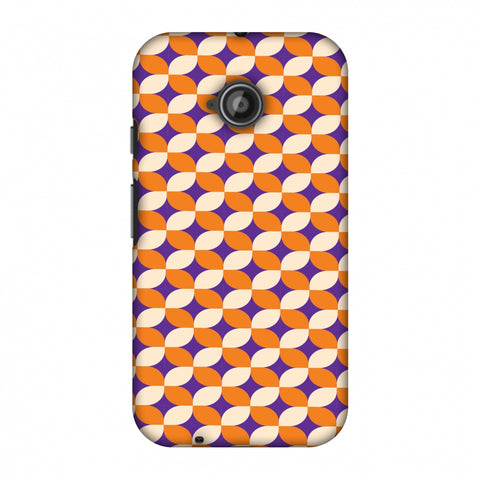 Geometric Flowers 2 Slim Hard Shell Case For Motorola Moto E 2nd Gen