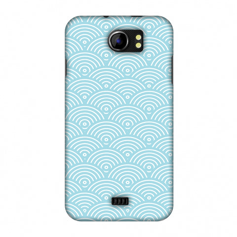 Overlapped Circles Slim Hard Shell Case For Micromax Canvas 2 A110