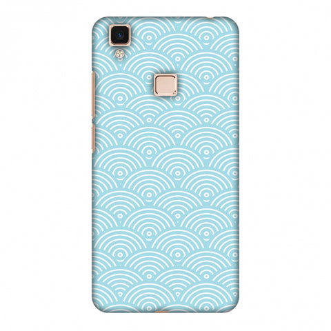 Overlapped Circles Slim Hard Shell Case For Vivo V3 Max