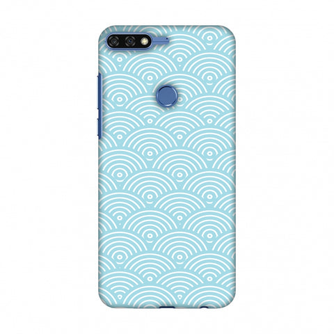 Overlapped Circles Slim Hard Shell Case For Huawei Honor 7C