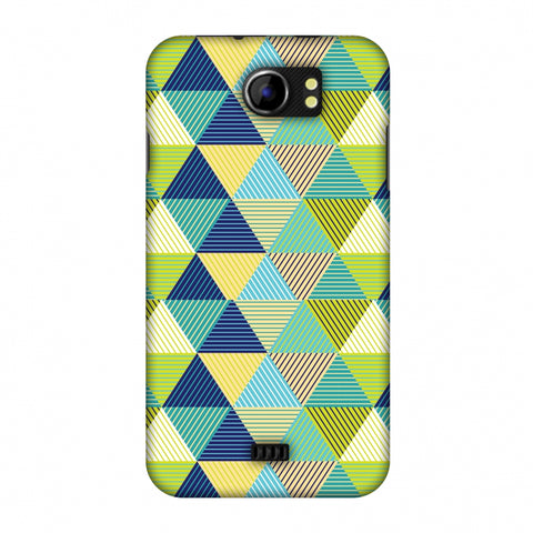 Triangles & Triangles Slim Hard Shell Case For Micromax Canvas 2 A110