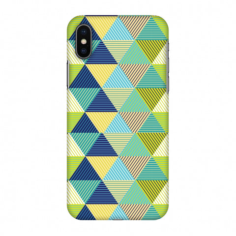 Triangles & Triangles Slim Hard Shell Case For Apple iPhone X