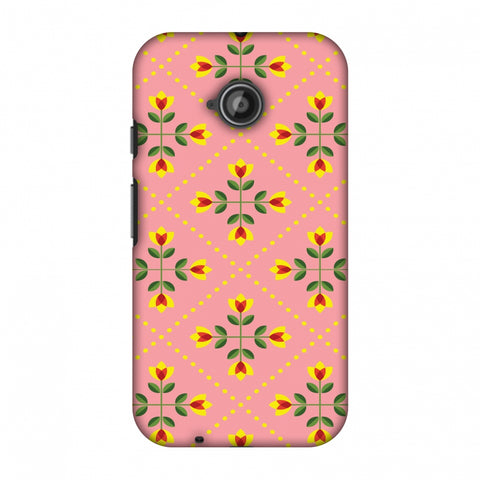 Pretty Flowers 1 Slim Hard Shell Case For Motorola Moto E 2nd Gen