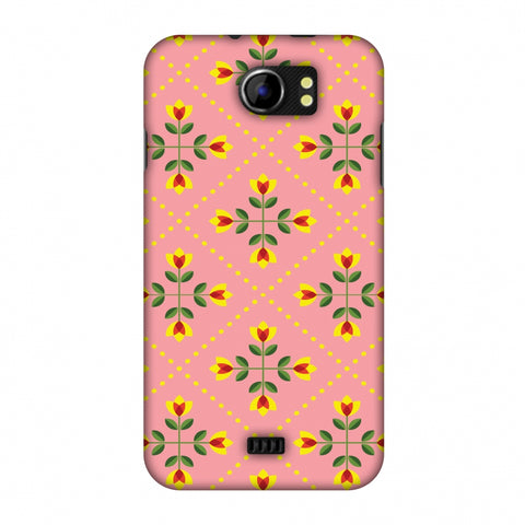 Pretty Flowers 1 Slim Hard Shell Case For Micromax Canvas 2 A110