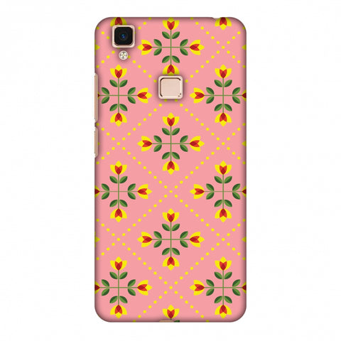 Pretty Flowers 1 Slim Hard Shell Case For Vivo V3 Max