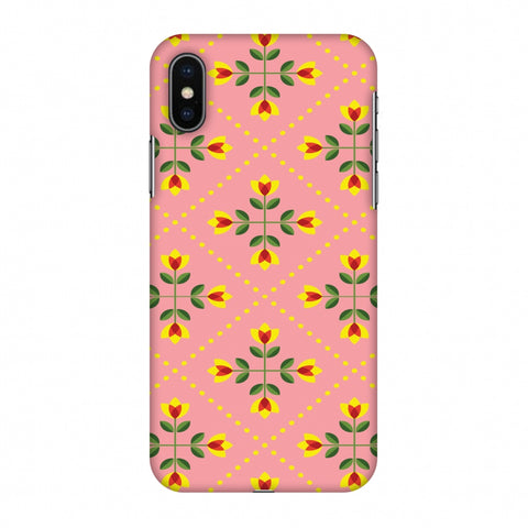 Pretty Flowers 1 Slim Hard Shell Case For Apple iPhone X