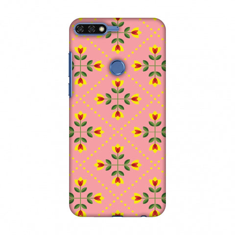 Pretty Flowers 1 Slim Hard Shell Case For Huawei Honor 7C