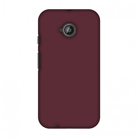 Tawny Port Slim Hard Shell Case For Motorola Moto E 2nd Gen