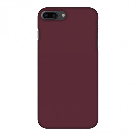 Tawny Port Slim Hard Shell Case For Apple iPhone 8 Plus