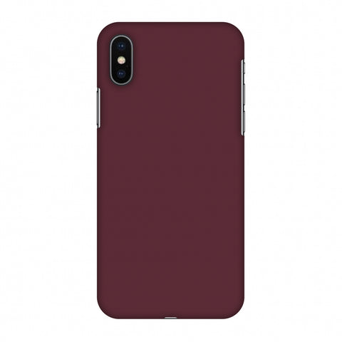 Tawny Port Slim Hard Shell Case For Apple iPhone X