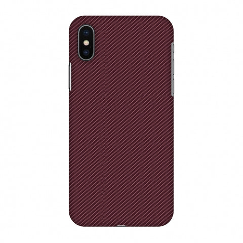 Tawny Port Texture Slim Hard Shell Case For Apple iPhone X