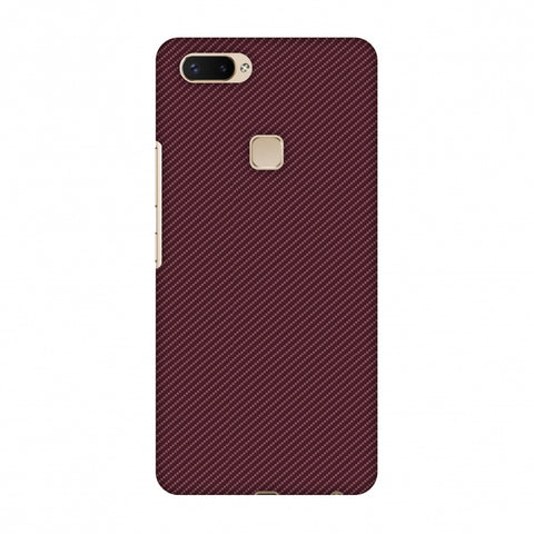 Tawny Port Texture Slim Hard Shell Case For Vivo X20 Plus