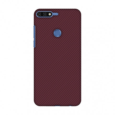 Tawny Port Texture Slim Hard Shell Case For Huawei Honor 7C