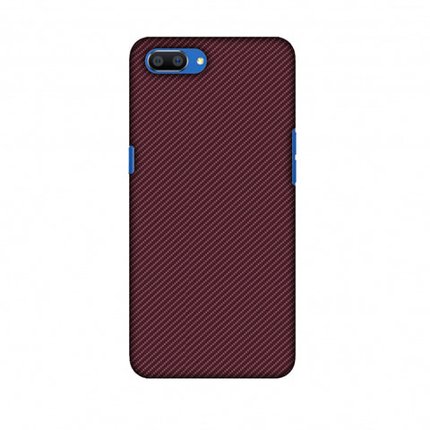 Tawny Port Texture Slim Hard Shell Case For Oppo Realme C1