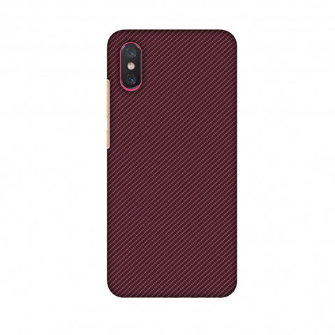 Tawny Port Texture Slim Hard Shell Case For Xiaomi Mi 8 Pro