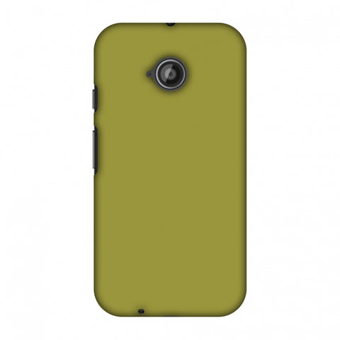 Golden Lime Slim Hard Shell Case For Motorola Moto E 2nd Gen
