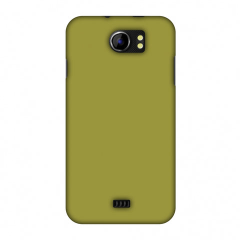 Golden Lime Slim Hard Shell Case For Micromax Canvas 2 A110