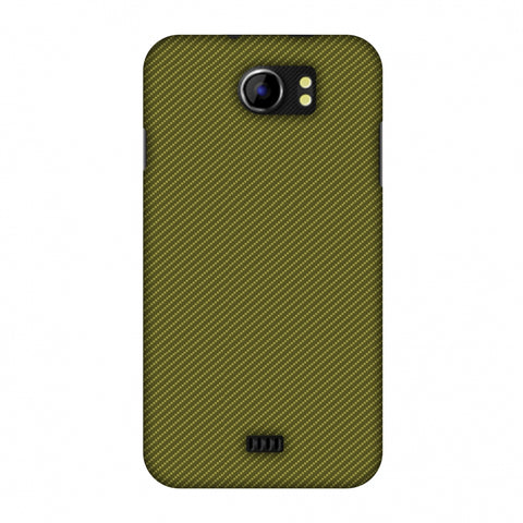 Golden Lime Texture Slim Hard Shell Case For Micromax Canvas 2 A110