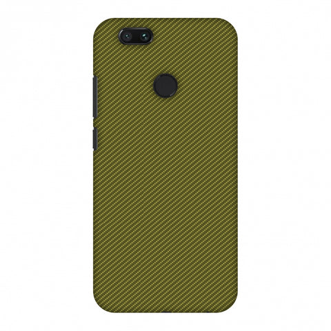 Golden Lime Texture Slim Hard Shell Case For Xiaomi MI A1-5X