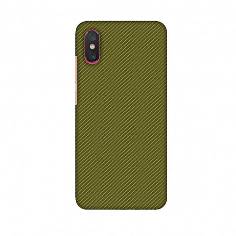 Golden Lime Texture Slim Hard Shell Case For Xiaomi Mi 8 Pro