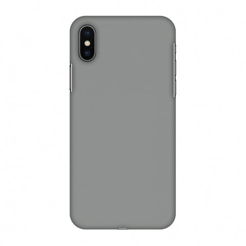 Neutral Grey Slim Hard Shell Case For Apple iPhone X