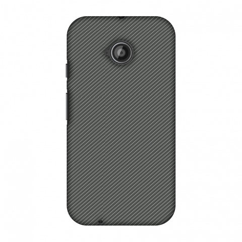 Neutral Grey Texture Slim Hard Shell Case For Motorola Moto E 2nd Gen