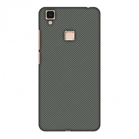 Neutral Grey Texture Slim Hard Shell Case For Vivo V3 Max