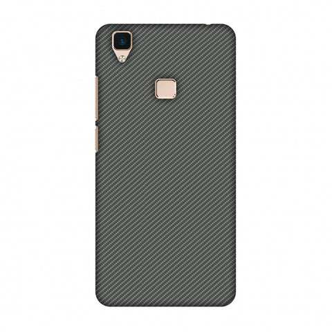 Neutral Grey Texture Slim Hard Shell Case For Vivo V3
