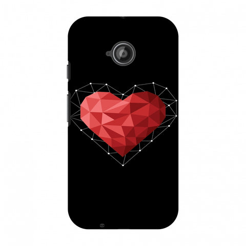 Geometric Heart Slim Hard Shell Case For Motorola Moto E 2nd Gen