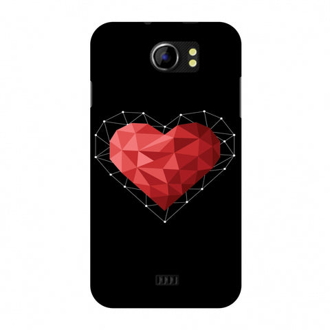 Geometric Heart Slim Hard Shell Case For Micromax Canvas 2 A110