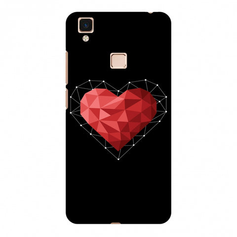Geometric Heart Slim Hard Shell Case For Vivo V3 Max