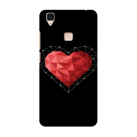 Geometric Heart Slim Hard Shell Case For Vivo V3