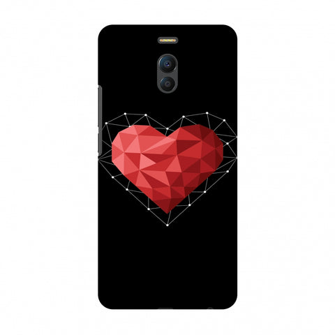 Geometric Heart Slim Hard Shell Case For Meizu Note 6