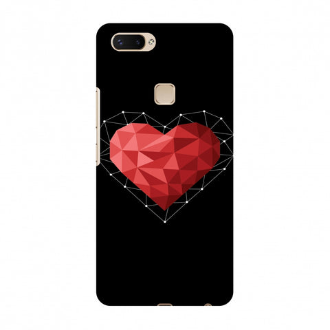 Geometric Heart Slim Hard Shell Case For Vivo X20 Plus