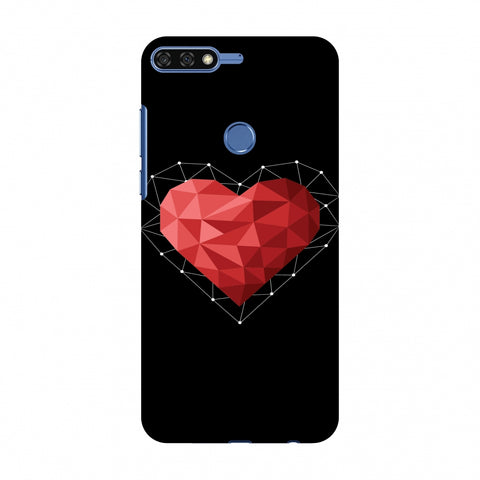 Geometric Heart Slim Hard Shell Case For Huawei Honor 7C