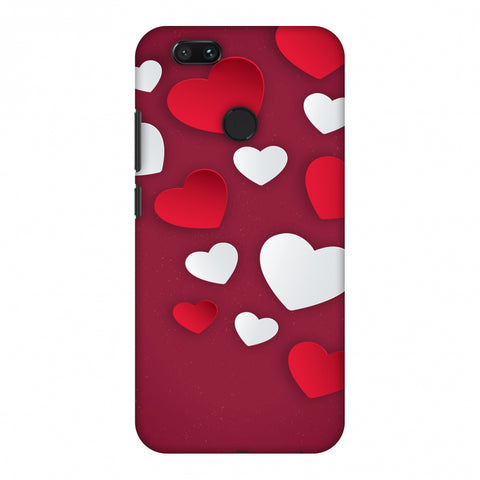 Red & White Hearts Slim Hard Shell Case For Xiaomi MI A1-5X