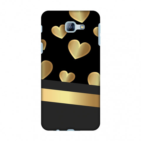 Golden Hearts Slim Hard Shell Case For Samsung Galaxy A8 2016