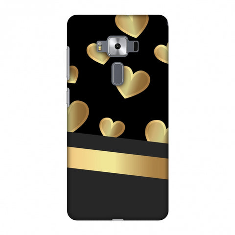 Golden Hearts Slim Hard Shell Case For Asus Zenfone 3 Deluxe ZS570KL